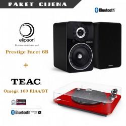 Elipson Prestige Facet 6BT + Elipson Omega 100 RIAA BT gramofon
