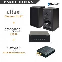 Eltax Monitor III BT + Tangent CD II + Advance Paris WTX-Microstreamer