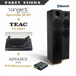 Tangent Spectrum X6 BT active + Teac TN 180BT + Advance WTX Microstream