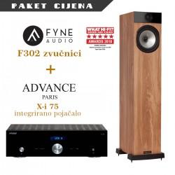 Advance Paris X-i 75 + Fyne Audio F302