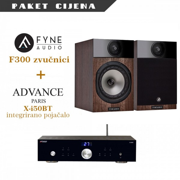 Advance Paris X-i50BT + Fyne Audio F300
