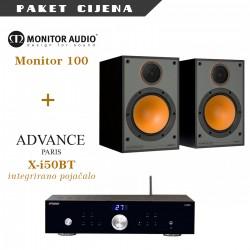 Advance Paris X-i50BT + Monitor Audio Monitor 100