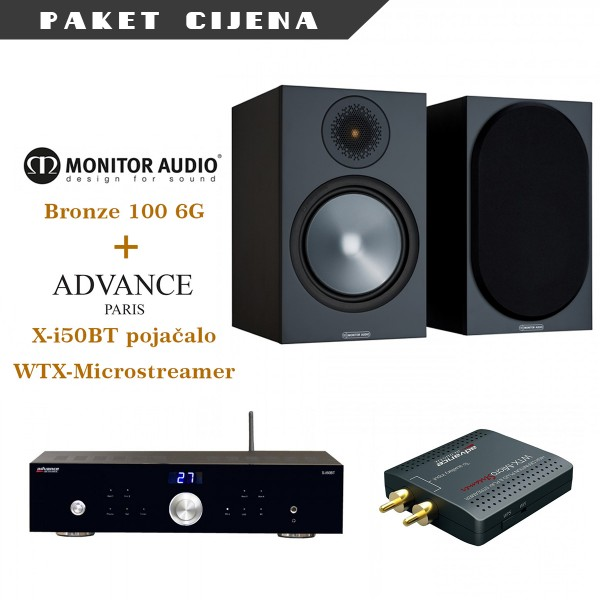 Advance Paris Xi50BT + WTX microstreamer + Monitor Audio Bronze 100 G6