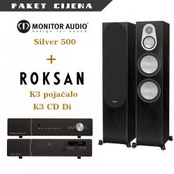 Roksan K3 + DI CD + Monitor Audio Silver 500
