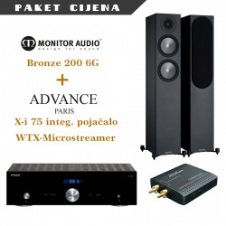 Advance Paris Xi 75 + Advance Paris WTX microstream + Monitor Audio Bronze 200 G6
